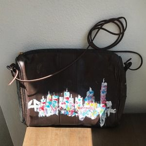 Fendi Crossbody Handbag Brown Hand Painted NYC